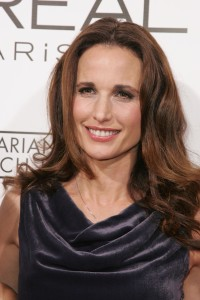 Andie Macdowell. Looking great for 236 years old thanks to L'Oreal.