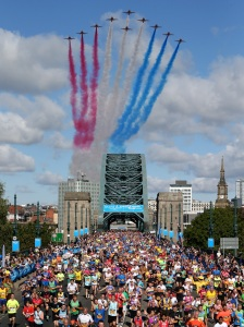 The Red Arrows make the International Signal Flag for the letter T. Really.
