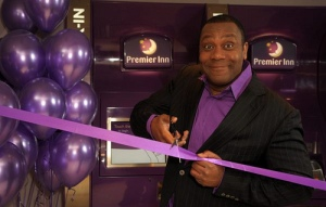 Lenny Henry: ambassador for Premier Lodge. Travel Inn. Whatever.