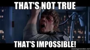 Luke Skywalker: has difficulties accepting