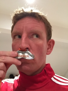It's all worth it for a moustache-shaped medal!