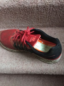 Nike Vomero. Pictured with a train ticket in it.